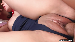 Japanese darling Yuko Ayana had mmf action uncensored